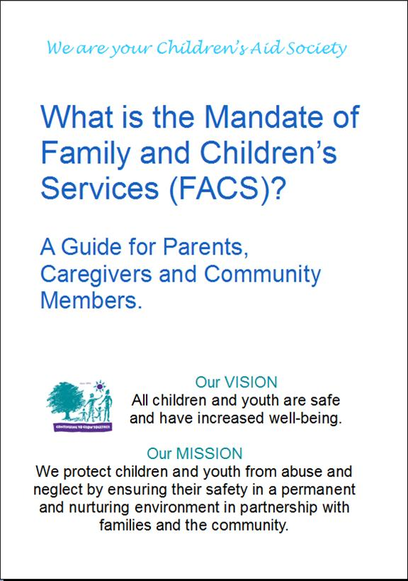 Mandate of Family And Children Services